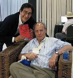 Sergio  Mondragón y Claudio Willer. Foto:JAL