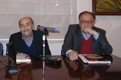 Jorge Enrique Adoum y Bruno Sáenz
