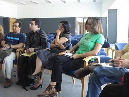 Reunión de trabajo de los editores: Fotos. Floriano Martins