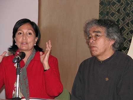 Amalia García, gobernadora de Zacatecas y José de Jesús Sampedro