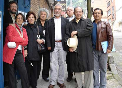 Poetas en Bogotá, Eduardo Lizalde, Antonio del toro, JM. Roca, Santiago Mutis, Eduardo Langagne y sus esposas