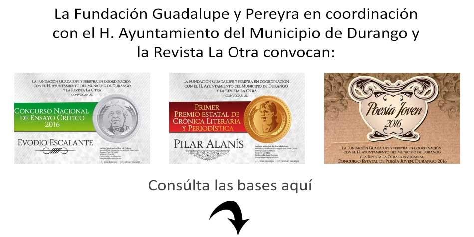 Convocatorias de La Otra, Fundación Guadalupe y Pereyra IMAC